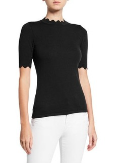 Elie Tahari Maggie Scalloped Sweater