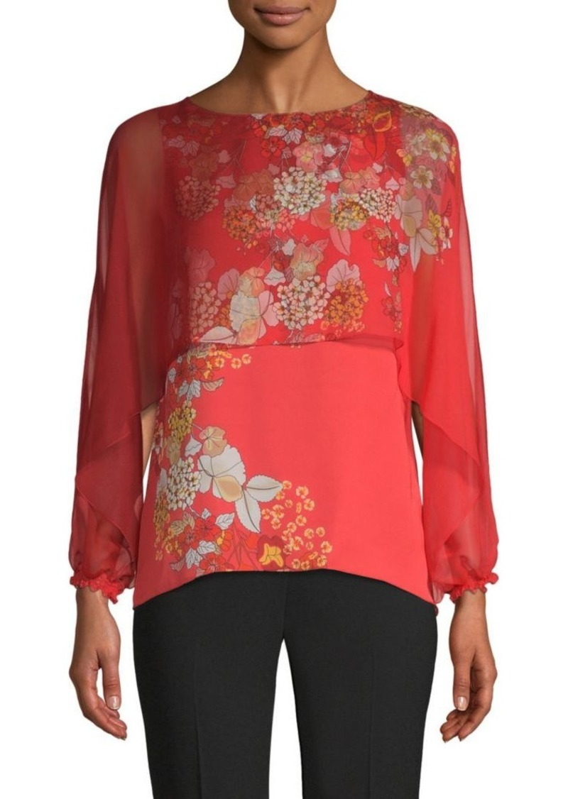 Elie Tahari Malika Layered Silk Blouse