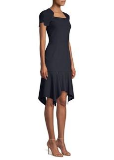 Elie Tahari Malka Ticking Stripe Dress