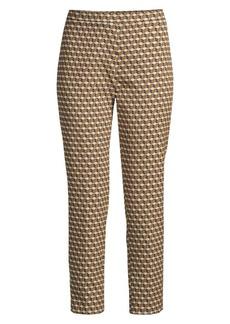 Elie Tahari Marcia Cubist Stretch-Jacquard Pants