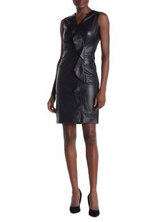 Elie Tahari Marsala Leather Dress