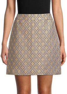 Elie Tahari Medallion-Print Mini Skirt