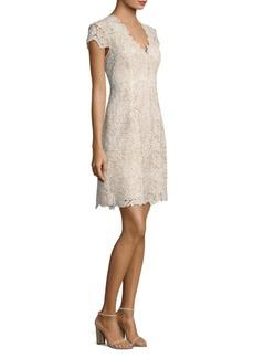 Elie Tahari Meena Floral A-Line Dress