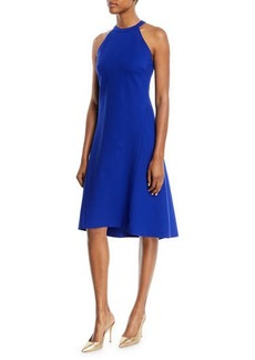Elie Tahari Mellie Halter-Neck A-Line Dress