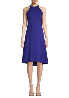 Elie Tahari Mellie Halterneck Flared Dress