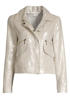 Elie Tahari Metallic Jaquared Jacket
