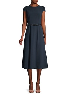 Elie Tahari Miciela Belted A-Line Dress