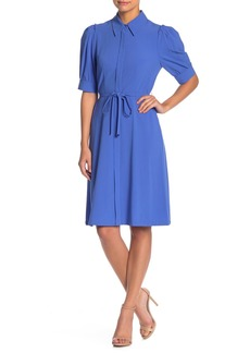 Elie Tahari Mildred Puff Sleeve Shirt Dress