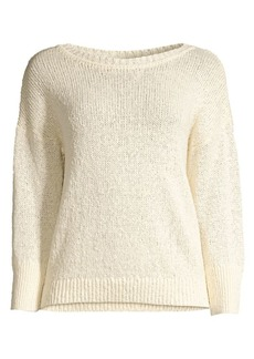 Elie Tahari Monroe Hemp-Blend Sweater