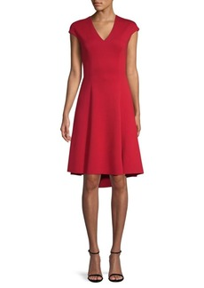 Elie Tahari Moriah Cap Sleeve Dress