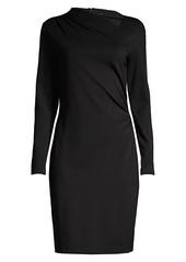 Elie Tahari Mozelle Asymmetric Double-Knit Dress