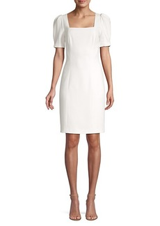 Elie Tahari Nacia Puff-Sleeve Sheath Dress