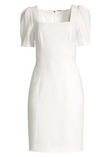 Elie Tahari Nacia Puff-Sleeve Sheath Dress