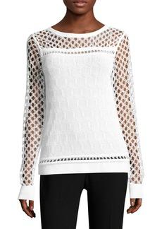 Elie Tahari Nadine Cutout Sweater