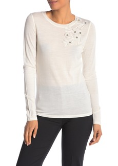Elie Tahari Nani Floral Merino Wool Sweater