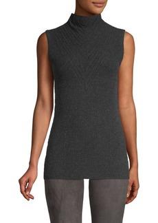 Elie Tahari Natalia Sleeveless Merino Wool Turtleneck Sweater