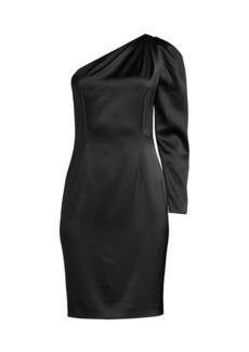 Elie Tahari Nikita One-Shoulder Satin Dress