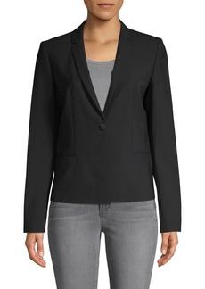 Elie Tahari Notch Lapel Wool-Blend Jacket