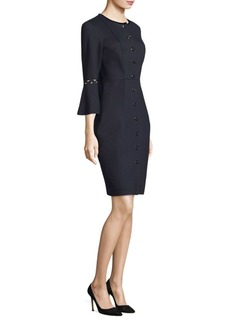 Elie Tahari Oceana Bell-Sleeve Dress