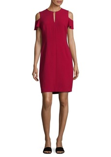 Elie Tahari Oleandra Cold-Shoulder Sheath Dress