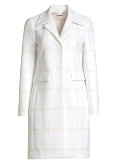 Elie Tahari Orla Windowpane Check Coat
