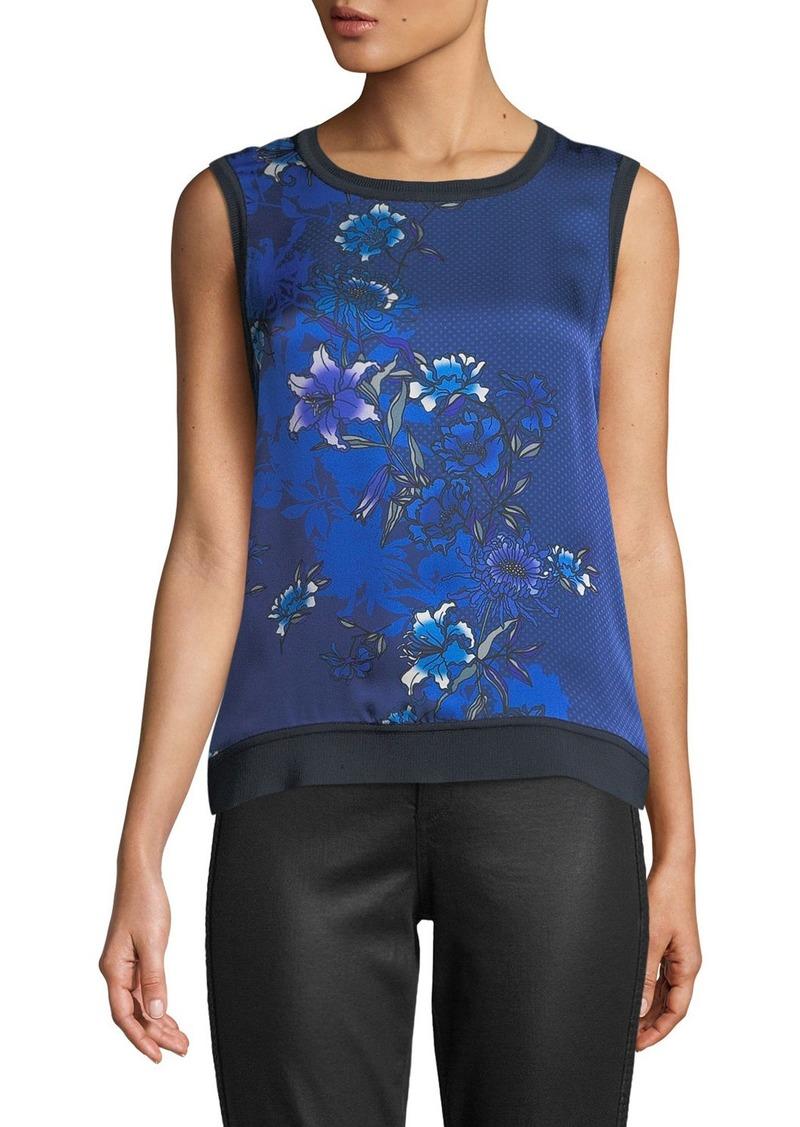 Elie Tahari Pauletta Floral-Print Silk Blouse