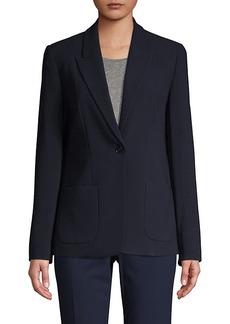 Elie Tahari Peak Lapel Button-Front Jacket