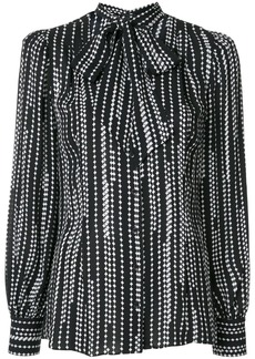 Elie Tahari Percy striped print shirt
