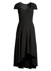 Elie Tahari Phoenix Asymmetric Cap-Sleeve Dress