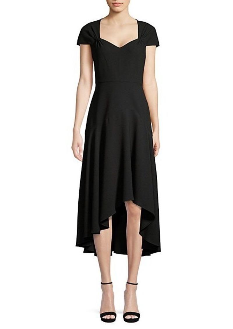 Elie Tahari Phoenix Asymmetric Cap-Sleeve Dress