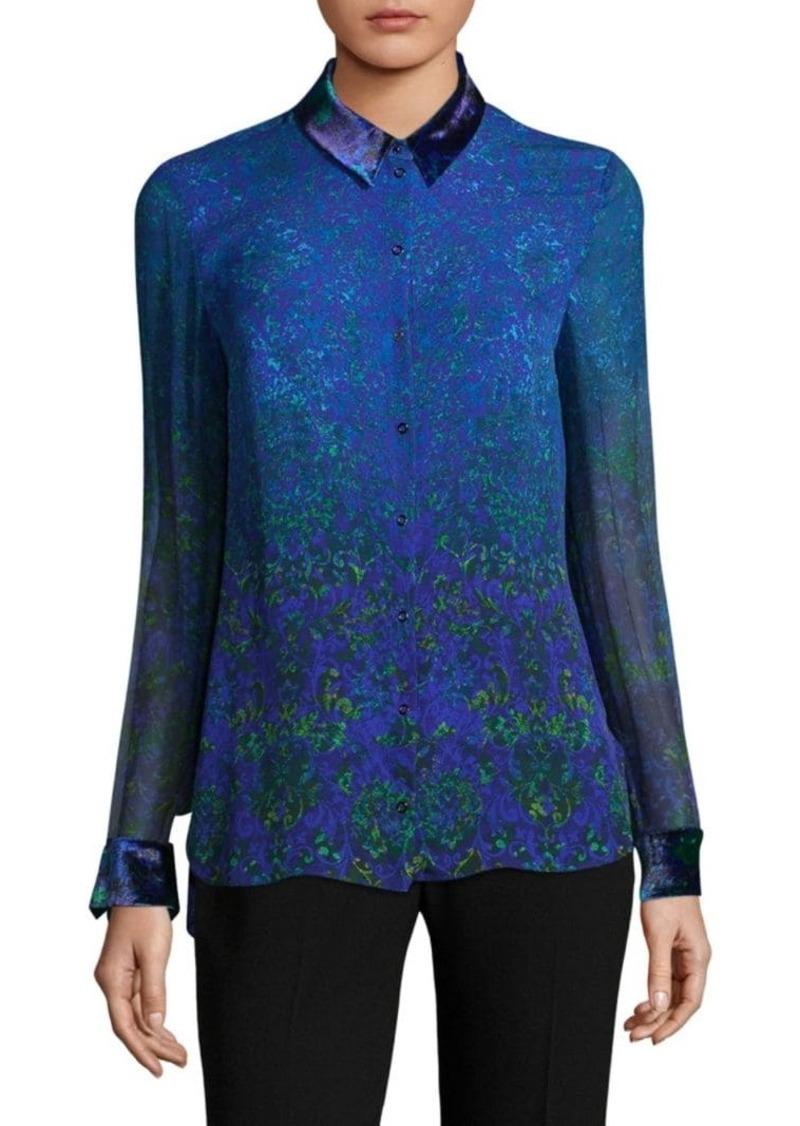 Elie Tahari Prima Floral Silk Blouse