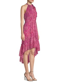 Elie Tahari Primrose Silk High-Low Dress