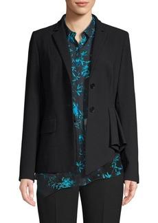 Elie Tahari Rane Asymmetrical Crepe Jacket