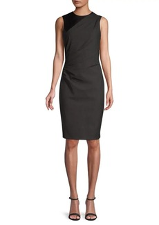 Elie Tahari Raphaella Dotted Plain Weave Suiting Dress