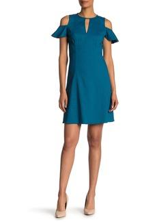 Elie Tahari Raylan Keyhole Linen Blend Dress
