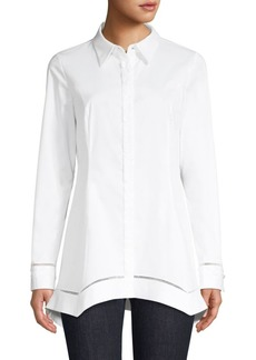 Elie Tahari Raz Stretch Poplin Shirt