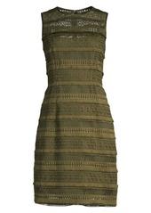 Elie Tahari Renee Crochet Sheath Dress