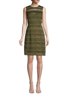 Elie Tahari Renee Crochet Sheath Dress