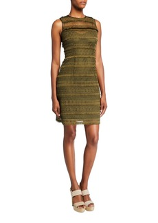 Elie Tahari Renee Sleeveless Lace Dress