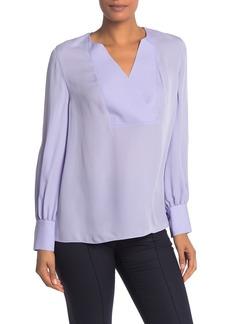 Elie Tahari Reva Long Sleeve Silk Blouse