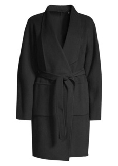 Elie Tahari Rhoda Wool Trench Coat