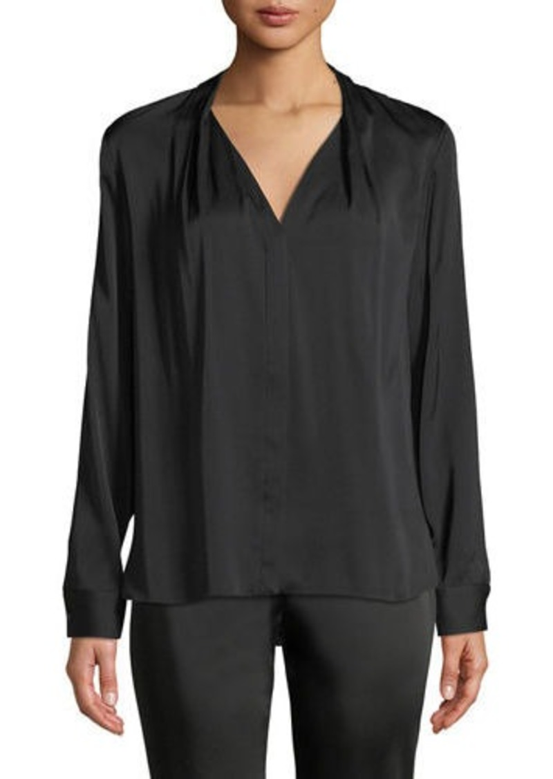 Elie Tahari Rosalina Silk-Stretch Blouse