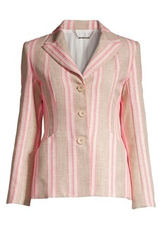 Elie Tahari Sasha Stripe Single-Breasted Blazer