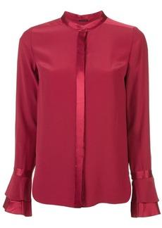 Elie Tahari satin-trim blouse