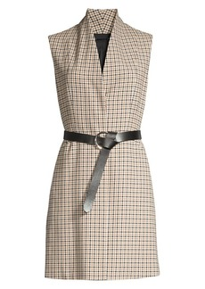 Elie Tahari Savannah Graph Check Vest