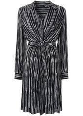 Elie Tahari Saxon diamond-print shirt dress