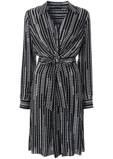 Elie Tahari Saxon diamond-print shirt dress