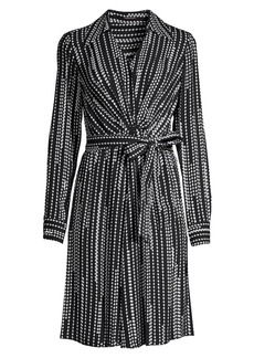 Elie Tahari Saxon Diamond-Print Shirtdress