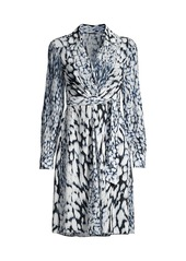 Elie Tahari Saxon Printed Tie-Dye Dress