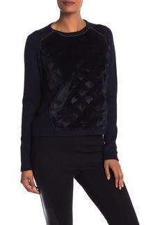 Elie Tahari Shanaya Genuine Rabbit Fur Sweater